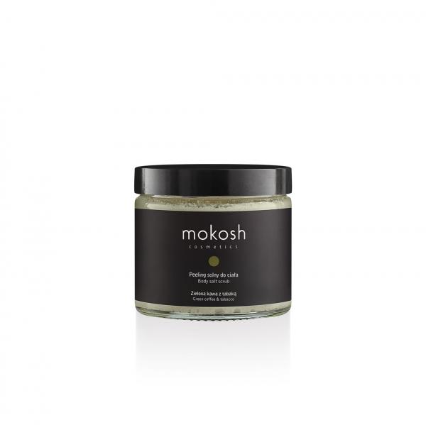 Peeling solny do ciała Zielona kawa z tabaką Mokosh